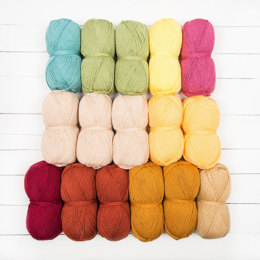 Stylecraft Demelza Blanket by Catherine Bligh (Pippin Crochet Club CAL) - 16 Ball Colour Pack