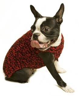Need for Tweed Dog Sweater Lion Brand Wool-Ease Thick & Quick - 60539