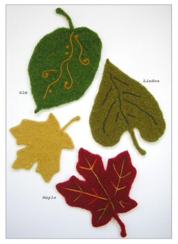 Felted Wool Leaves