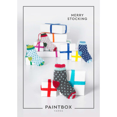 """""""Merry Stocking"""" : Stocking Knitting Pattern for Christmas in Paintbox Yarns DK   Light Worsted Yarn"""