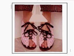 PINK LACED TOP SUMMER SANDALS