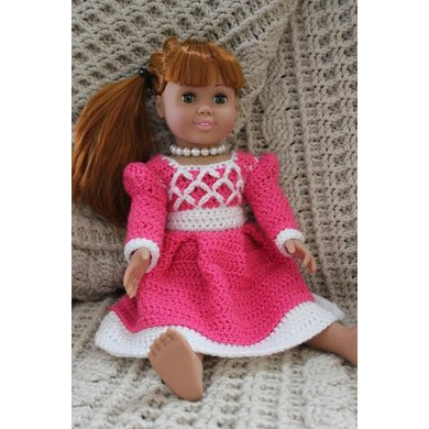 "Princess Ansleigh's Sweet Heart Dress - 18"" Doll Size"