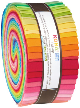Robert Kaufman Kona Cotton Solids 2.5in Strip Roll - RU-231-41