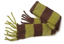 Knifty Knitter Child's Striped Scarfin Lion Brand Jiffy - 60439