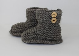 2 Button Childrens Slipper Boots