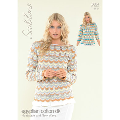 Heatwave Top and New Wave Top in Sublime Egyptian Cotton DK - 6084 - Downloadable PDF