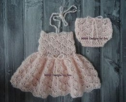 139 Dainty blossom newborn dress