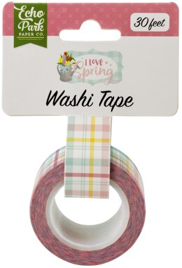 Echo Park Paper Echo Park I Love Spring Washi Tape 30' - Springtime Plaid
