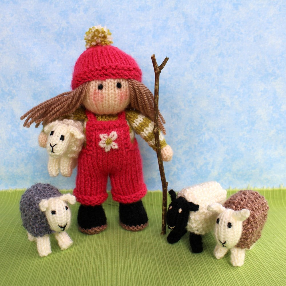 Bo Peep And Her Sheep Knitting Pattern By Dollytime