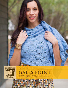 Gales Point Oversized Wrap in Juniper Moon Cumulus - J31-01 - Downloadable PDF