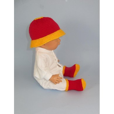 Anyone for Polo? Baby Hat and Booties Set