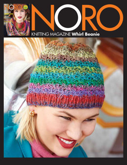 Whirl Beanie in Noro Hanabatake - 02 - Downloadable PDF
