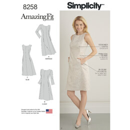 Simplicity Pattern 8258 Women's and Plus Size Amazing Fit Dress 8258 - Sewing Pattern