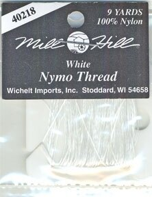 Mill Hill Nymo Thread for Beading, Clear 9yds