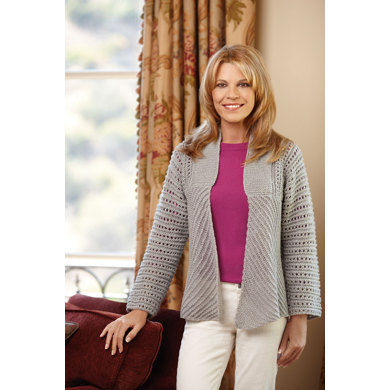 Glamour Jacket in Lion Brand Vanna's Glamour - L10351B