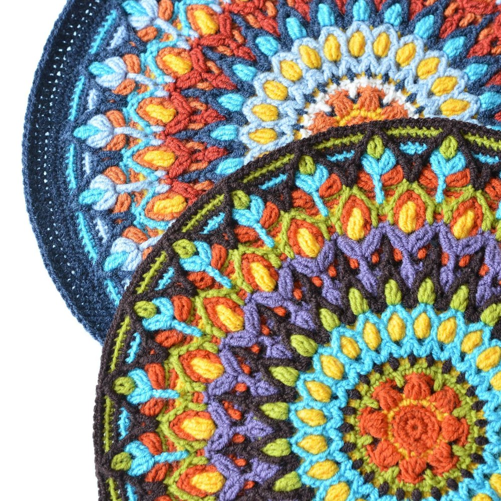 Spanish Mandala Pillow Overlay Crochet Crochet Pattern By