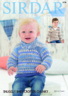 36e66fc12d492c V Neck and Wrap Neck Sweaters in Sirdar Snuggly Baby Crofter Chunky - 4778