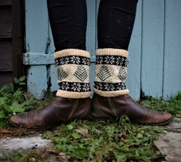 Snowing in the Forest Boot Cuffs