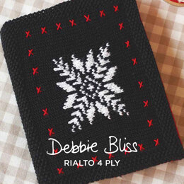 Notebook Cover - Free Knitting Pattern For Christmas in Debbie Bliss Rialto 4ply by Debbie Bliss
