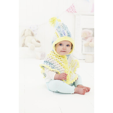 Baby Onesie, Poncho and Hat in King Cole Comfort Cheeky Chunky - 5466 - Leaflet