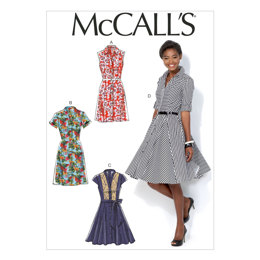 McCall's Misses' Dresses and Belt M7084 - Sewing Pattern