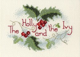 Bothy Threads The Holly and the Ivy Cross Stitch Kit - 9cm x 13.3cm