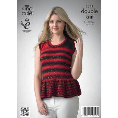 Ladies' Top and Cardigan in King Cole Galaxy DK - 3871