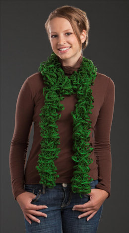 One Skein Scarf in Rozetti Marina Glitz