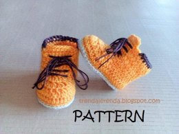 Timberland style baby booties