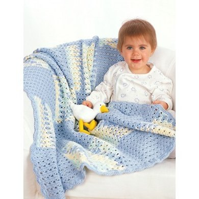 Baby Blanket In Lily Sugar And Cream Solids Crochet Patterns