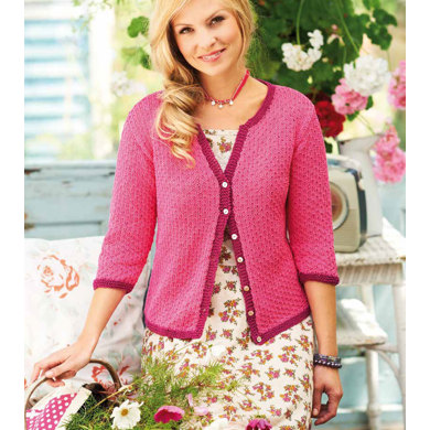 Knitting Patterns For Ladies Cardigans Free : Ladies Cardigan in Rico Essentials Cotton DK - 155