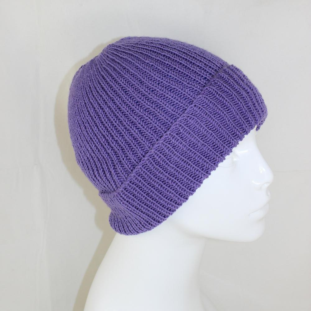 Knitting Pattern Baby Beanie 8 Ply : 4 Ply Unisex Rib Beanie Hat Knitting pattern by ...