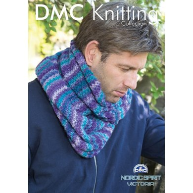 Stripped Effect Scarf in DMC Nordic Spirit Victoria - 15183L/2