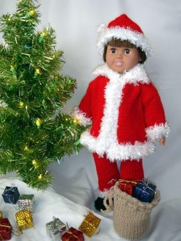 Santa Suit, Knitting Patterns fit American Girl and other 18-Inch Dolls