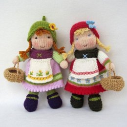 Fern and Flora - Knitted Dolls
