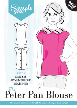 Simple Sew Patterns The Peter Pan Blouse SR05 - Sewing Pattern