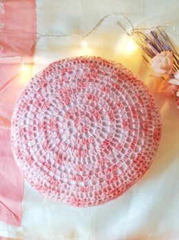 Sweet Pea crochet cushion