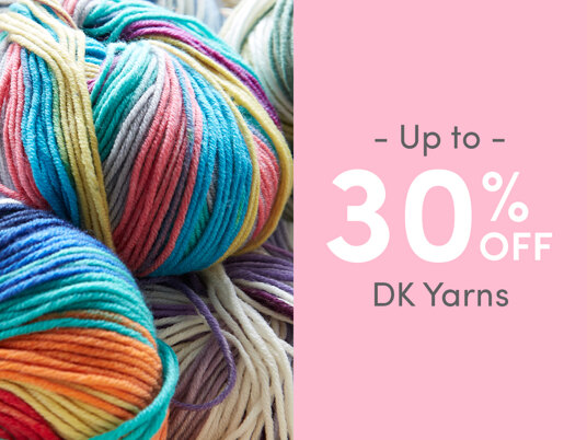 Up to 30 percent off DK yarns
