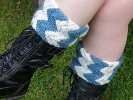 Garter Rib Boot Toppers, with optional beaded picot edge