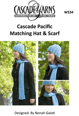 Matching Hat & Scarf Cascade Pacific - W534