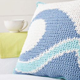 Catch A Wave Crochet Pillow in Bernat Maker Home Dec - BRC0520-001617M - Downloadable PDF
