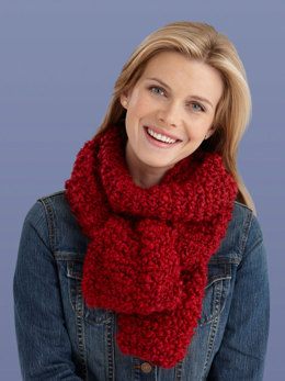 Beginner One Ball Scarf in Lion Brand Homespun Thick & Quick - L20058
