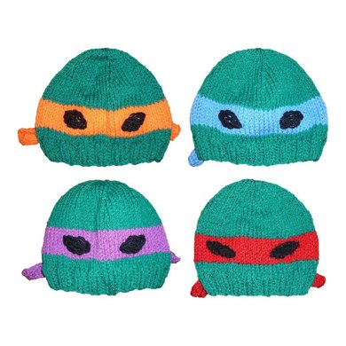 Teenage Mutant Ninja Turtle Knitted Hat Knitting Pattern By Jillian