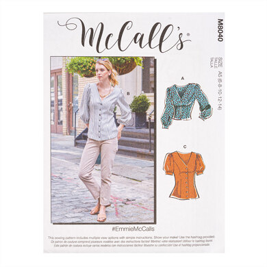 McCall's #EmmieMcCalls - Misses' Tops M8040 - Sewing Pattern