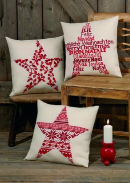 Permin Christmas Star Cushion Cross Stitch Kit - 40cm x 40cm