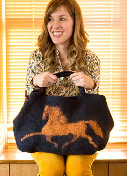 Felted Hippodrome Bag in Berroco Peruvia Quick