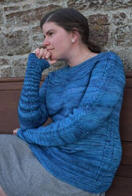 Cabled at the Seams Sweater