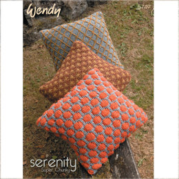 Cushions and Bowl in Wendy Serenity Super Chunky - 5749