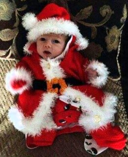 Baby Knitting Pattern Santa Coat 0-6mths