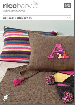 Baby Cushions and Blanket in Rico Baby Cotton Soft DK - 171